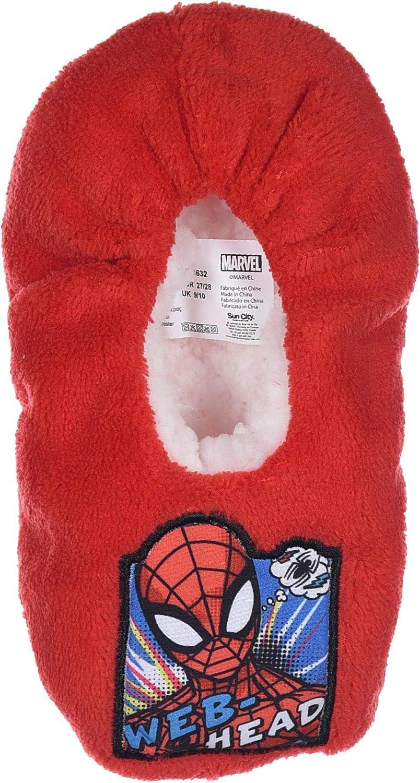 Marvel Chaussons Spiderman avec picots antid/érapants et chaussettes assorties