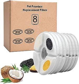 KafooStore Filtre Fontaine Eau Chat, Filtre Charbon pour Fontaine Chat, Pack de 8,Triple Action Senses 2.0, Filtres de Rec...