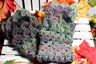 Made to Order Dragon Scale Arm Warmers, Dragon Scale Fingerless Gloves