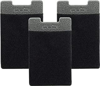 CardNinja Ultra-slim Self Adhesive Credit Card Wallet for Smartphones, Black (Pack of 3)