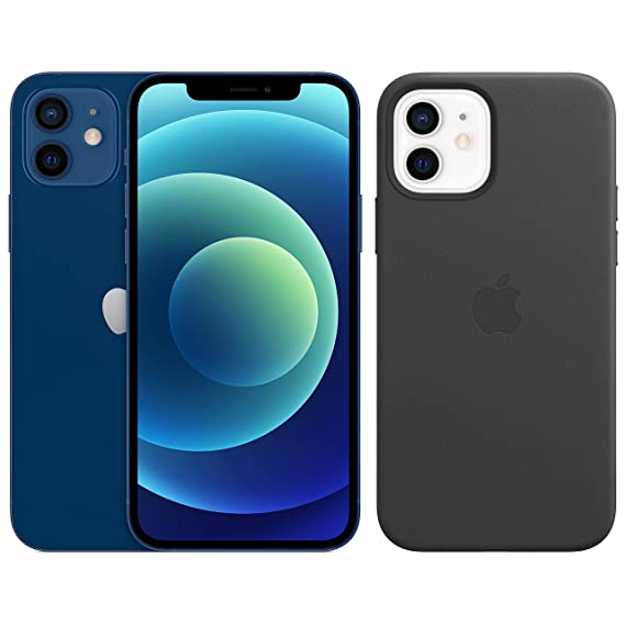 New Apple iPhone 12 (128GB) - Blue + Protective Case