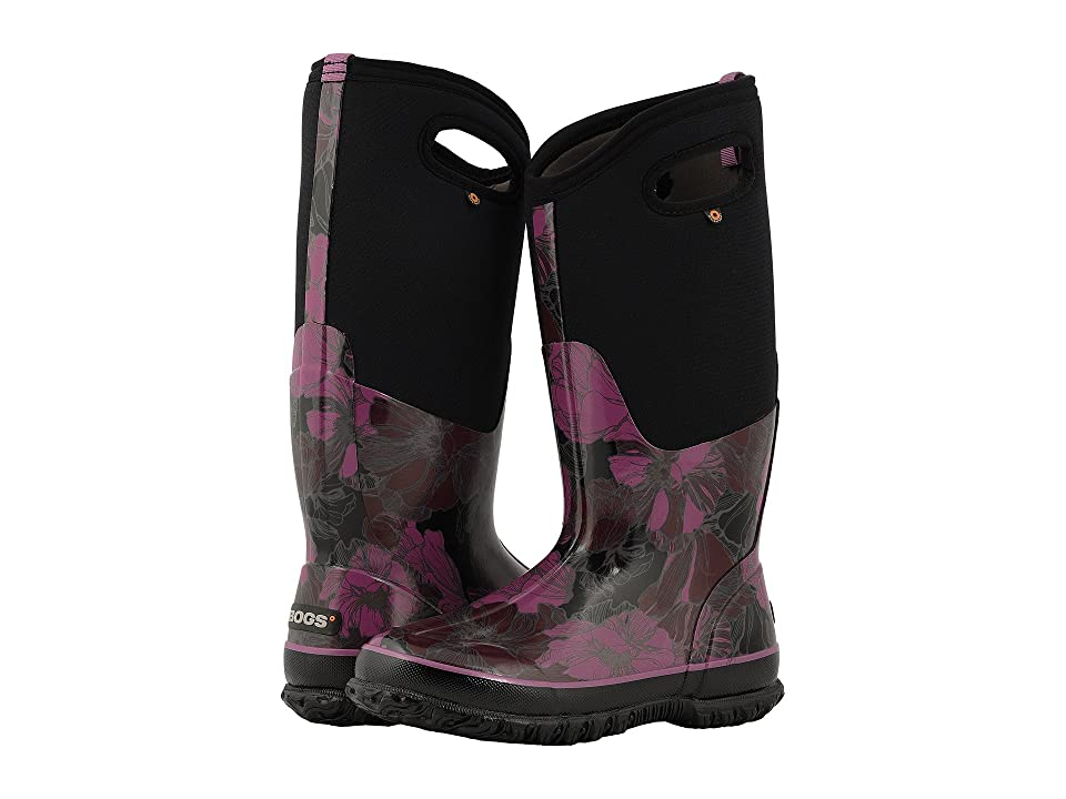 Bogs Classic Tall Vintage Floral (Black Multi) Women