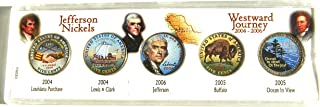United States - Jefferson Nickels Westward Journey Colorized Coins P About Uncirculated Detials