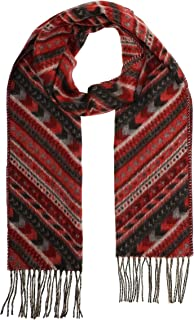 Accessories First ZigZag Scarf - Fashionable Womens Acrylic Woven Scarf with Twisted Fringes