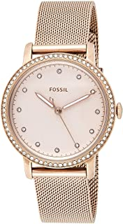 Fossil Womens Quartz Watch, Analog Display and Stainless Steel Strap ES4364