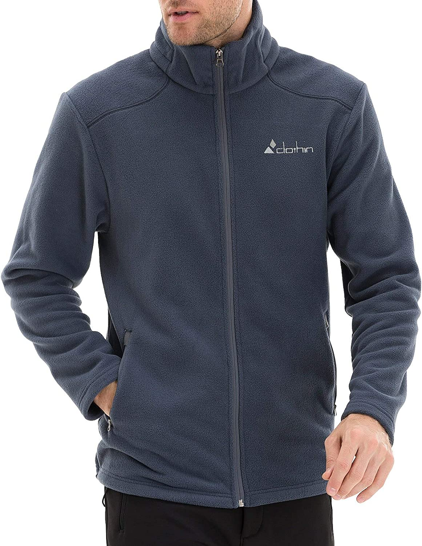 Men's Softshell Jacket Windproof Front-Zip Fleece-Lined Ski Insu