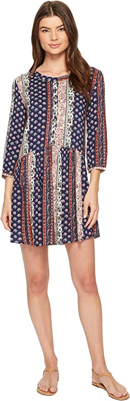 Roper - 1385 Border Print Rayon Long Sleeve Dress
