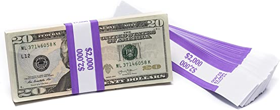 Barred ABA $2,000 Currency Band Bundles (500 Bands)