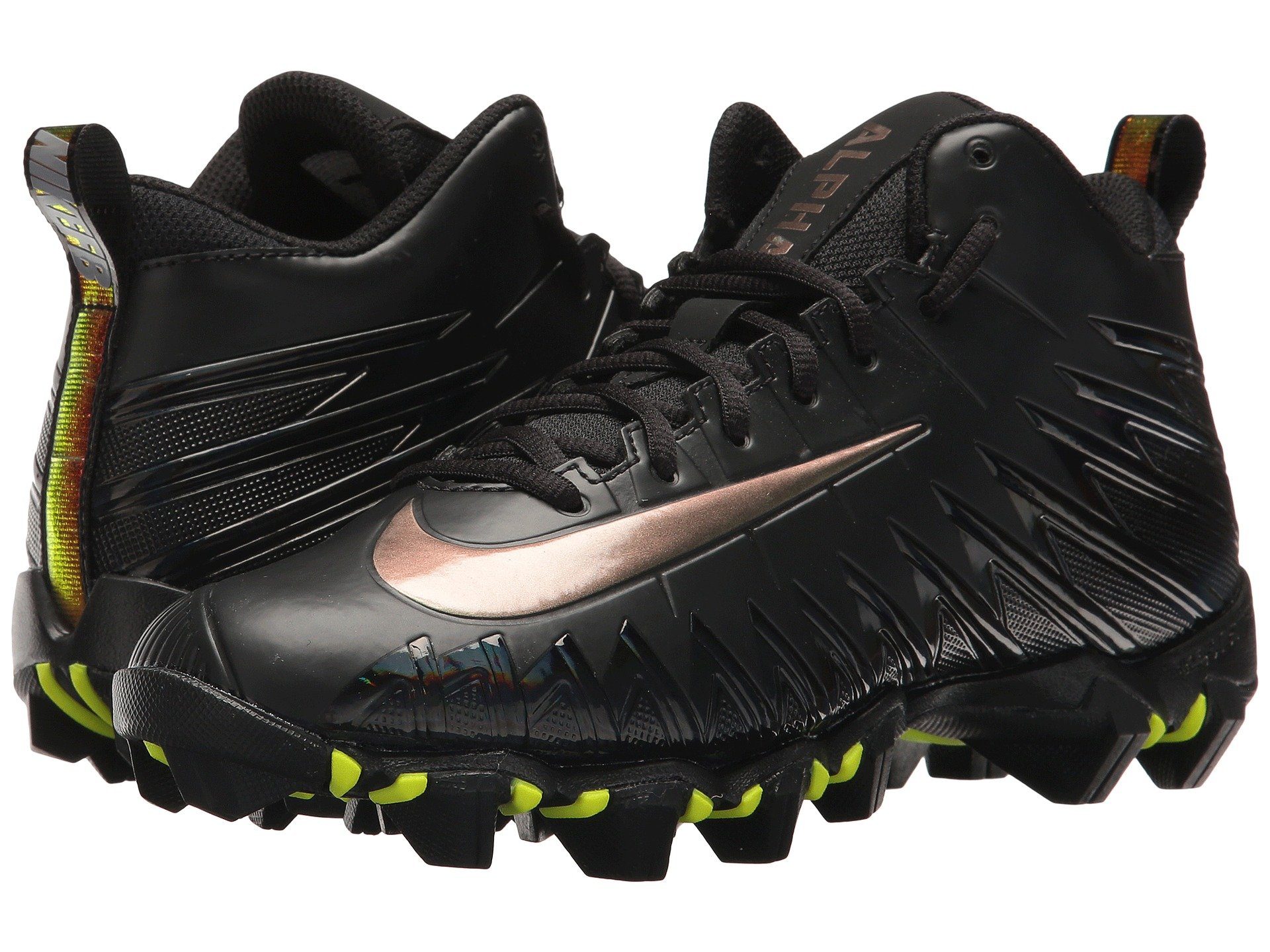 Boys Nike Alpha Menace Shark Gs Football Cleat Black White