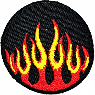 cc39540b68bfc HHO Flame Fire Racing patch Flame Fire Racing cartoon Patch Embroidered DIY  Patches, Cute Applique