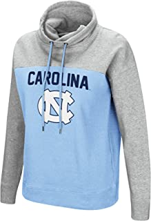 Colosseum NCAA Women's-The Talk-Funnel Neck Pullover Sweatshirt-Team Color with Heather Grey