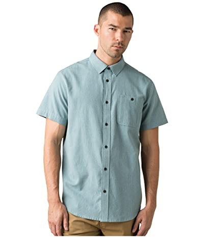 Prana Jaffra Short Sleeve Shirt (Breeze) Men