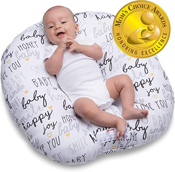 Boppy Original Newborn Lounger Hello Baby Black And Gold