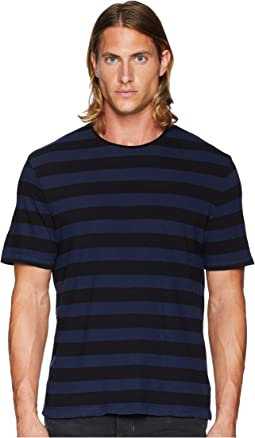 Striped Linen Crew Neck T-Shirt