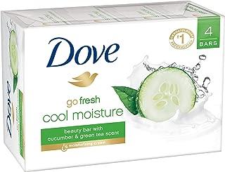Dove go fresh Beauty Bar, Cucumber and Green Tea, 4 Ounce (Pack of 4)