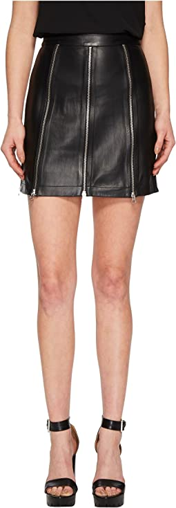 McQ - Zip Leather Skirt