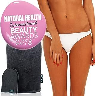 Self Fake Tan Tanning Mitt - 5 Star Luxury Velvet Glove Mit Applicator for Mousse, Spray, Lotion, Oil, Cream, Liquid Foam Products, Face, Beach Sun Sands Body Bronzing Streak Free Skinny Gold Bake Air