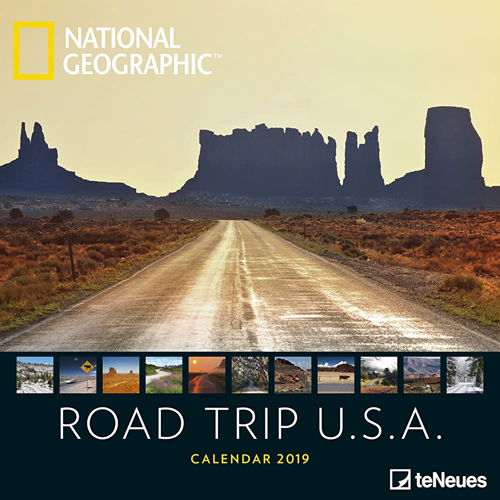 加入いとこ阻害する2019 Nat Geo Road Trip USA 30x30 Grid Ca