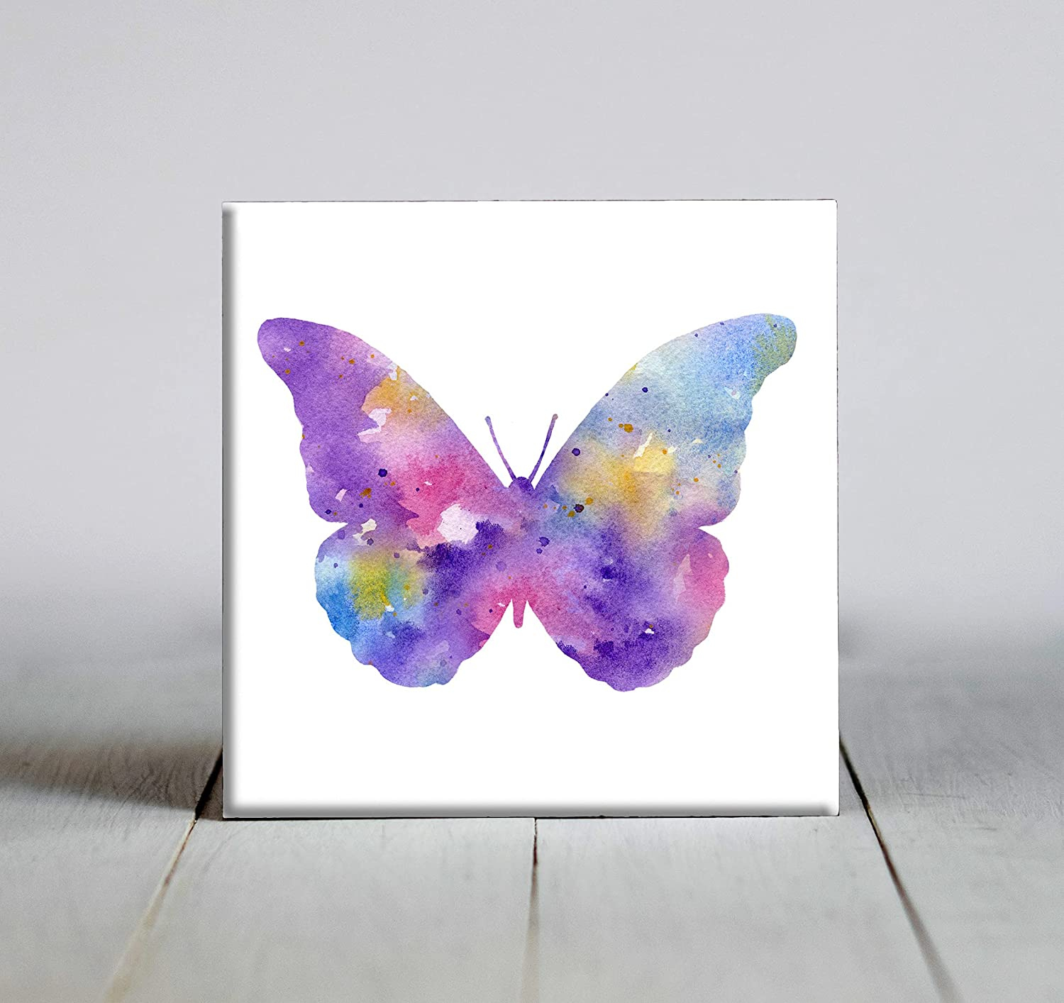 Pastel Abstract Butterfly 2021 new Watercolor Attention brand Art 6 Tile X Decorative