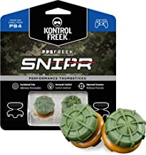 KontrolFreek FPS Freek Snipr for PlayStation 4 (PS4) and PlayStation 5 (PS5)   Performance Thumbsticks   2 High-Rise Conve...