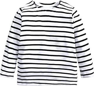 Baby Kids Boys Girls Star Striped Long Sleeve O Rong BFF T-Shirt Tee