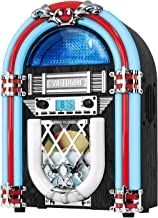 Victrola Retro Desktop Jukebox with CD Player, FM Radio, Bluetooth, and Color Changing LED Lights, 15-Inch Tall (Renewed)