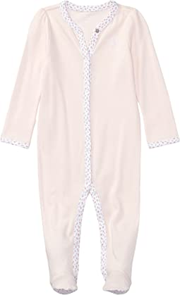 Ralph Lauren Baby - BSR Interlock Solid One-Piece Coveralls (Infant)