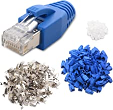 Cable Matters 50-Pack RJ45 Cat 6A Shielded Modular Plugs with Strain Relief Boots