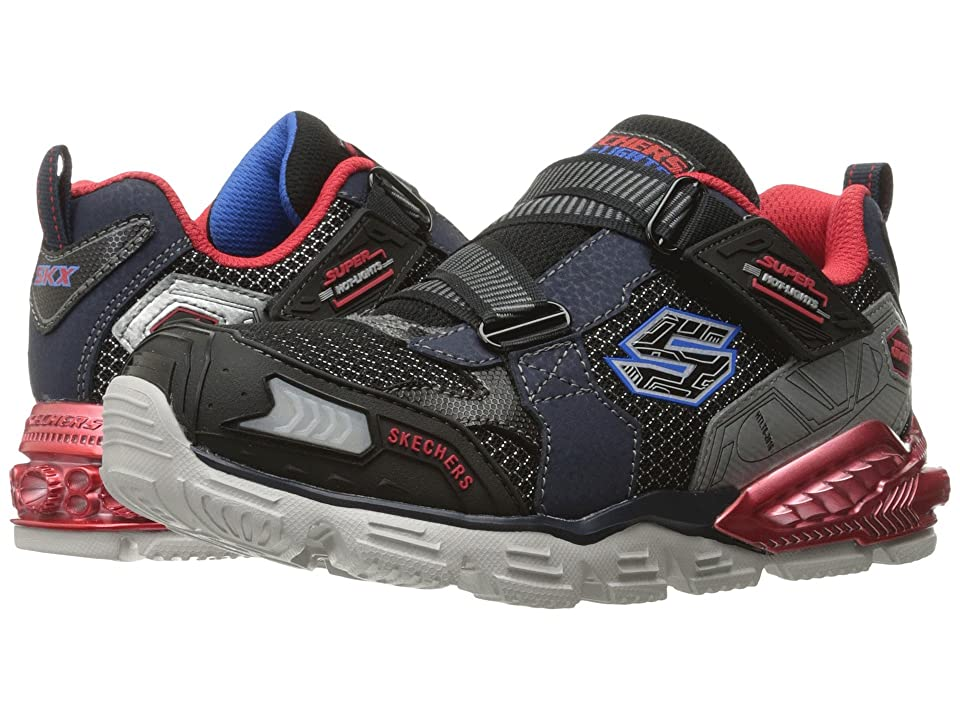 SKECHERS KIDS Orbiters 90590L Lights (Little Kid) (Navy/Red) Boys Shoes