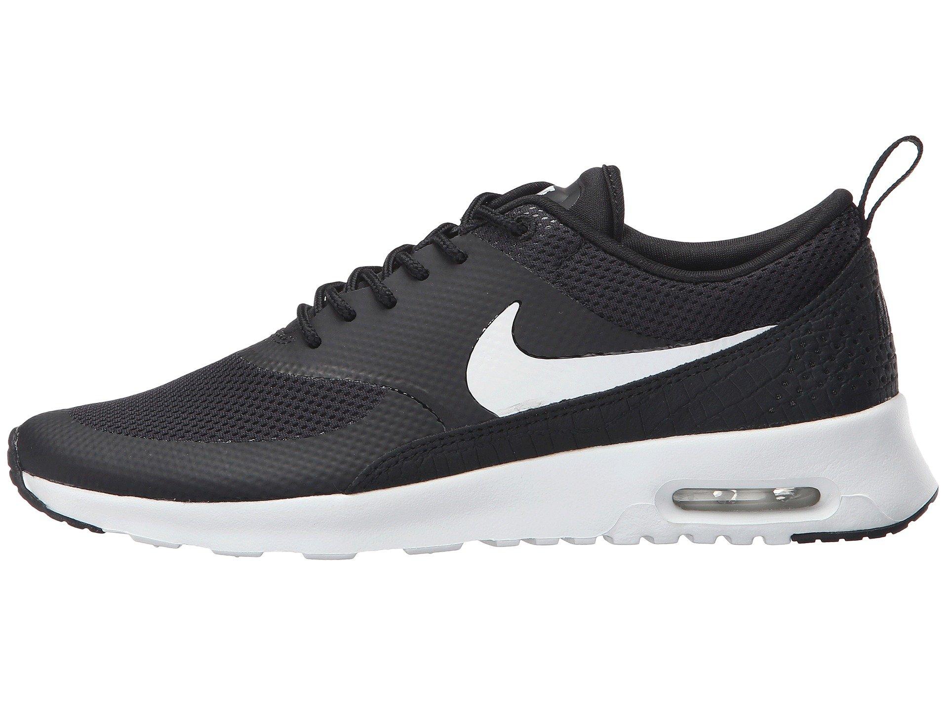 Big Girls Nike Air Max Thea Platinum Mesh Classic Black And White ... 8e5fa848e07f