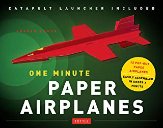 One Minute Paper Airplanes Kit: 12 Pop-Out Planes, Easily Assembled in Under a Minute: Paper Airplane Book with Paper, 12 ...