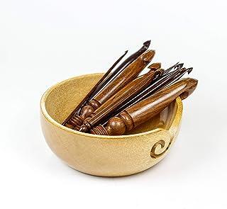 Crochets et aiguilles à tricoter de qualité supérieure fabriqués en bois de rose poli | Nagina International (paquet de to...