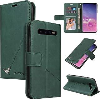 LODROC Lederen Portemonnee Case voor Galaxy S10, [Kickstand Feature] Luxe PU Lederen Portemonnee Case Flip Folio Cover met...