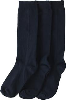 Jefferies Socks Girls' School Uniform Knee-High Sock, Pack of Three