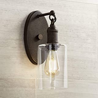 Cloverly Industrial Rustic Wall Light Sconce LED Bronze Hardwired 11 3/4