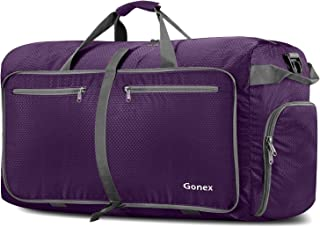 Gonex 100L Foldable Travel Duffel Bag for Luggage Gym Sports, Lightweight Travel Bag with Big Capacity, Water Resistant (Purple)
