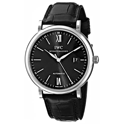 IWC Mens IW356502 Portofino Automatic Black Dial Watch