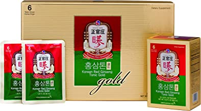KGC Cheong Kwan Jang [Korean Red Ginseng Tonic Gold] Rich Taste and High Concentration with Vitamins - 30 Drink Pouches