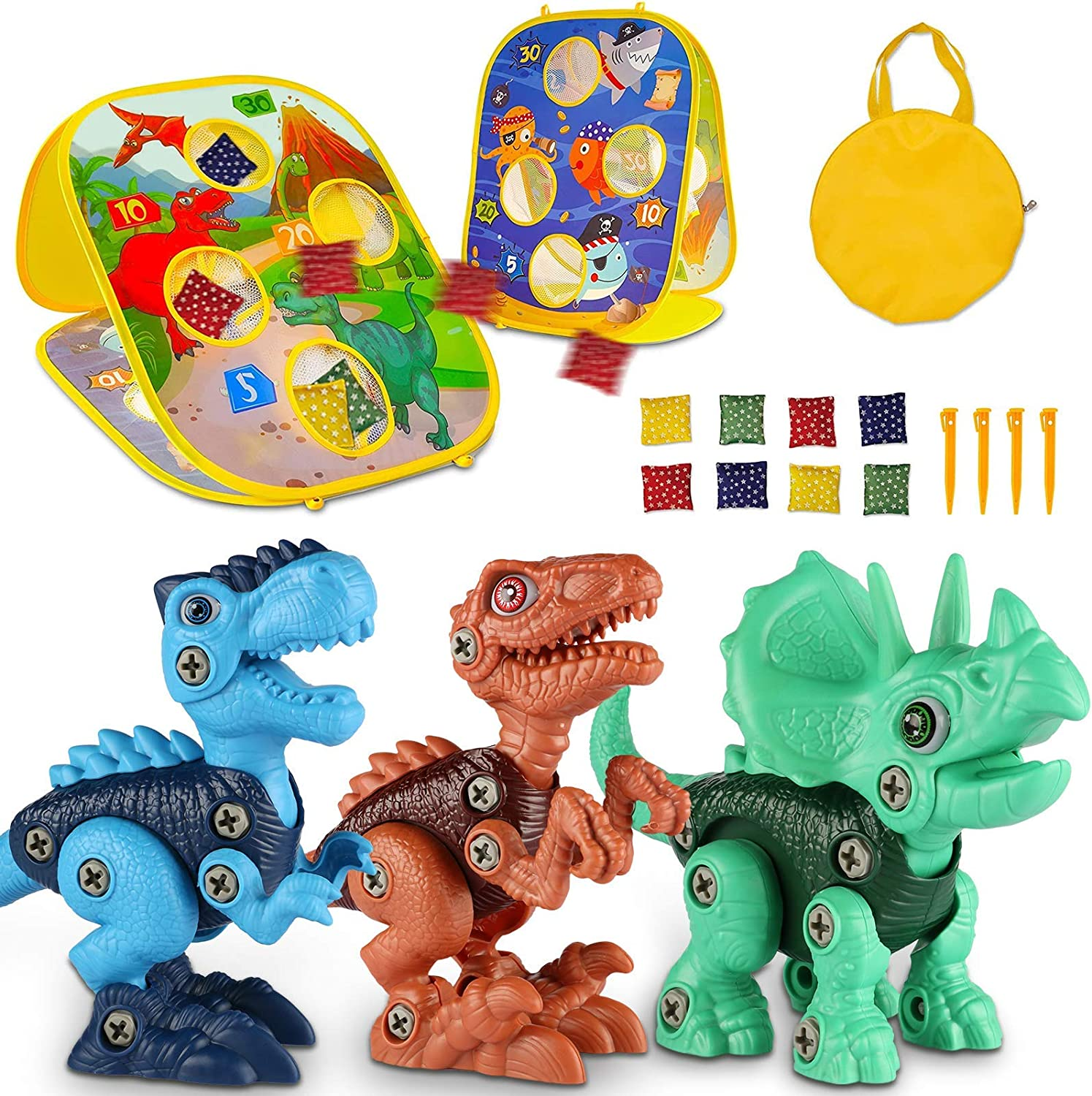 Laradola New products world's highest quality popular Take Apart Dinosaur Toys for Kids Bean Max 70% OFF 5-7 with 3-5 Bag