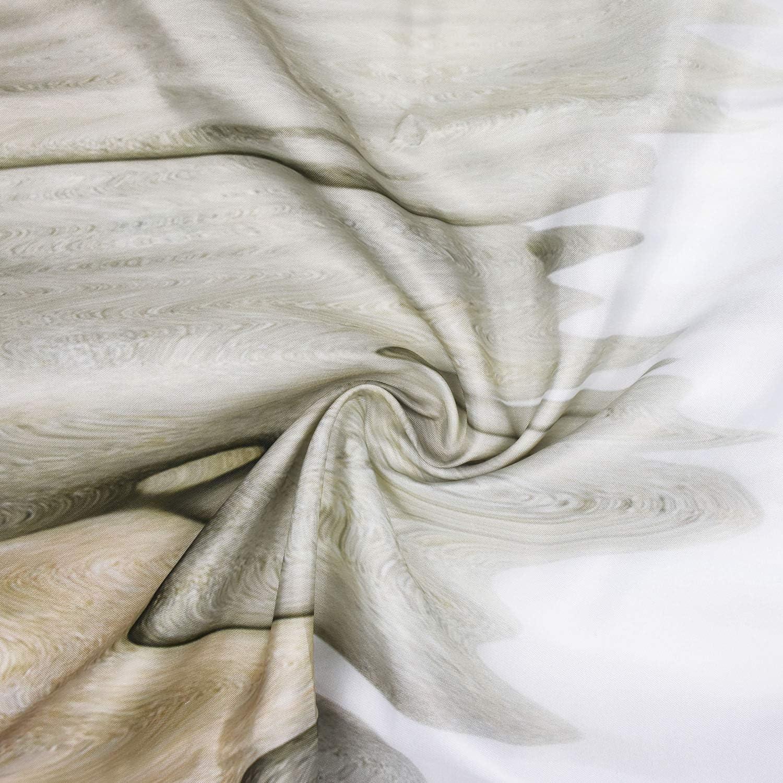 Alishomtll Beach Shower Curtain Starfish Sand Bath Curtain Digital Print with 12 Hooks Polyester Fabric Bathroom Decor Waterproof 69 x 70 inches White 175x178cm