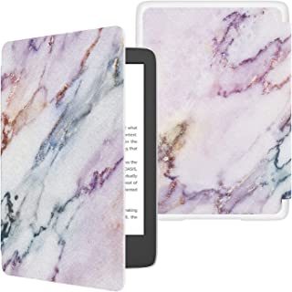 TiMOVO Cover Compatible for All-New Kindle (10th Generation, 2019 Release) Case, Shock-Absorption Smart Cover Shell with Auto Wake/Sleep, Not Fit Kindle Paperwhite or Kindle 8th Gen - Purple Marble