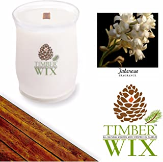 Country Jar Timber Wix Tuberose Soy Wood Wick Candle (16 oz.) 100% US Grown Premium SuperSoy (Sale!)