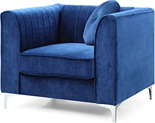 Glory Furniture Delray Chair, Navy Blue. Living Room Furniture, 32