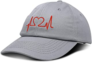 DALIX Heartbeat RN Nurse Hat EKG Baseball Cap Medical Fitness