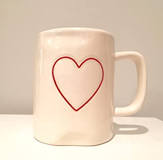 Rae Dunn Valentine Heart Mug Red Interior