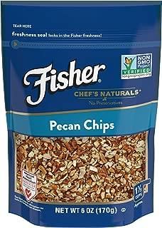 FISHER Chef's Naturals Pecan Chips, 6 oz, Naturally Gluten Free, No Preservatives, Non-GMO