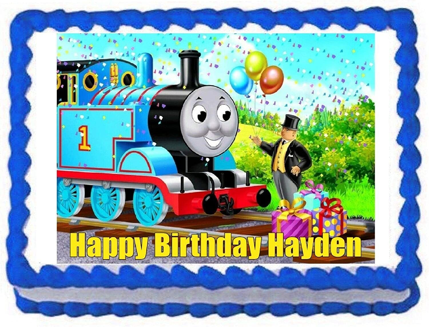 Thomas and Easy-to-use Friends Train Image Edible Topper Sales for sale Cake