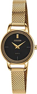 Citizen Women's Japanese-Quartz Stainless-Steel Strap, Gold, 10 Casual Watch (Model: EZ7002-54E)