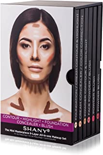 SHANY The Mini Masterpiece 6 Layers Foundation, Concealer, Camouflage, Contour, Blush Palette