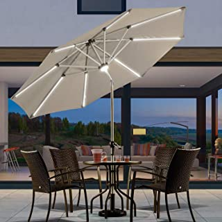 Best 10 led solar auto tilt aluminum umbrella Reviews